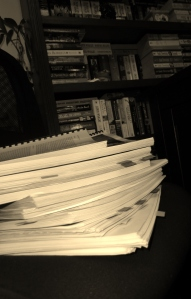 The draft manuscripts used for editing.